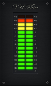 Аналоговое или цифровое звучание, а красный цвет везде имеет одно и тоже значение: опасность или искажение.